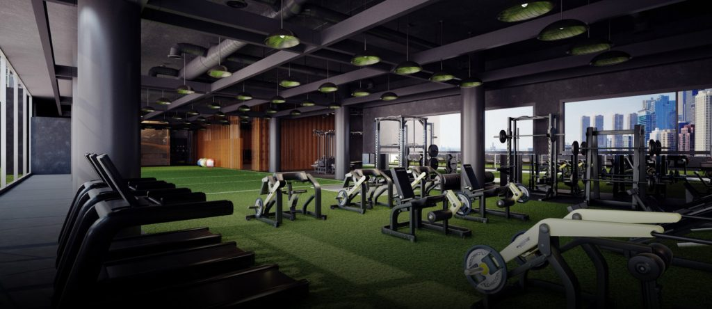 gym and fitness center workout area image