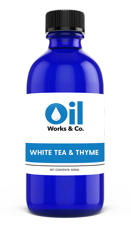 white tea and thyme bottle image